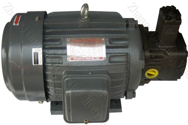 Vp series combination of variable vane pump with motor for Hydraulic pump motor combination